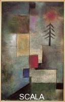 Klee, Paul (1879-1940) Small Picture of Fir Trees, 1922. Oil on canvas, cm. 31,6 x 20,2. Inv. n.: G 1960.24