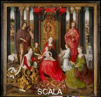 Memling, Hans (1425/40-1494) Triptych: central panel with the Mystic Marriage of Saint Catherine