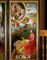 Memling, Hans (1425/40-1494) Triptych: right-hand panel with Saint John the Evangelist on Patmos