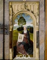 Memling, Hans (1425/40-1494) Floreins Triptych (closed): right-hand panel with Saint Veronica