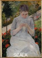 Cassatt, Mary (1844-1926) Girl in Garden