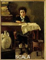 Mancini, Antonio (1852-1930) The Little Schoolboy