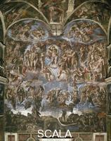 Michelangelo (Buonarroti, Michelangelo 1475-1564) Last Judgment [before restoration]