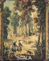 Oudry, Jean Baptiste (1686-1755) The Dogs on the Trail