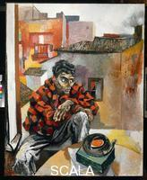Guttuso, Renato (1912-1987) A Calabrian Worker's Sunday in Rome (Rocco with the Gramophone)