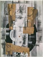 Braque, Georges (1882-1963) Composition with Ace of Clubs, 1913