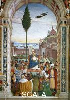 Pinturicchio (1454-1513) Scenes from the Life of Pius II: Pius II Arrives in Ancona to Launch the Crusade