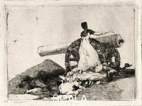 Goya, Francisco de (1746-1828) The 'Desastres de la guerra' (Disasters of War) series, 1810-20 - Plate 7: Que valor!, (What a Value!).