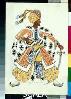 Bakst, Leon (1866-1924) The Blue God (costume design for a production of a ballet by Diaghilev)