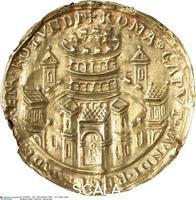 Art of the Meuse region Gold seal of Emperor Frederick I Barbarossa (ca. 1122/25-1190), 1154-1155. Reverse with Rome depicted as a walled town with crenellation, with Gate and towers; the round multi-stored central building is presumably the Colosseum. The writing reads: ROMA CAPVT MVNDI REGIT ORBIS FRENA ROTUNDI