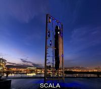 ******** Sculpture of the Titanic at Titanic Quarter in Belfast. Belfast, County Antrim, Northern Ireland.