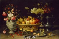 ******** Still Life of Fruit and Flowers. Still Life of Fruit and Flowers by Clara Peeters.. Clara Peeters (active 1607 - after 1621) - oil on copper. Early 17th Century