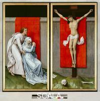 Weyden, Roger van der (c. 1399-1464) The Crucifixion, with the Virgin and Saint John the Evangelist Mourning, 1450-55