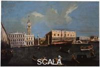 ******** Grand Canal, Piazzetta and Doge's Palace in Venice', 18th century. Canaletto, (Circle). Found in the collection of the Regional I. Kramskoi Art Museum, Voronezh.