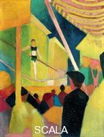 ******** Tightrope walker, c. 1913. From a private collection. Artist: Macke, August (1887-1914)