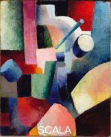 ******** Colored Composition of Forms, 1914. Found in the collection of the Albertina, Vienna. Artist: Macke, August (1887-1914)
