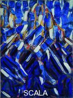 ******** Abstraction (the Blue Mountain), 1912. Found in the collection of the Museum Kunstpalast, Düsseldorf. Artist: Rohlfs, Christian (1849-1938)
