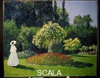 Monet, Claude (1840-1926) Jeanne-Marguerite Lecadre in the Garden (Lady in Garden at Sainte-Adresse), 1866