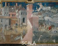 Lorenzetti, Ambrogio (1285-c. 1348) Effects of Good Government in the City and in the Country - detail (central part)