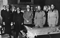 ******** Munich Pact, 29.09.1938. Group shot of the members of the Conference. Left to right: Neville Chamberlain, Edouard Daladier, Adolf Hitler, Benito Mussolini, Count Galeazzo Ciano