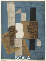 Picasso, Pablo (1881-1973) Guitar (Ceret, after March 31, 1913)
