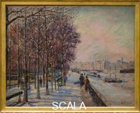 Guillaumin, Armand (1841-1927) Paris, quai de bercy, effet de neige - Paris, Quai de Bercy, Snow Effect. 1873