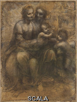 Leonardo da Vinci (1452-1519) The Virgin and Child with Saint Anne and Saint John the Baptist, about 1499-1500