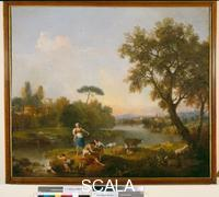 Zuccarelli, Francesco (1702-1788) Landscape with fisherboy.