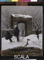 Friedrich, Caspar David (1774-1840) Cemetery in the Snow, 1826-27