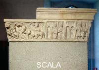 ******** Reliefs on Porta Romana: soldiers in the city