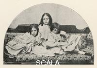 ******** ALICE LIDDELL Lorina - Alice - Edith (Alice is on the right) Original photograph taken by Lewis Carroll reproduced in 'The Life & Letters of Lewis Carroll' 1898 Page 94 1852 - 1934