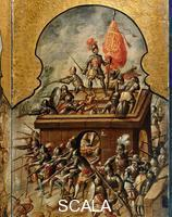 ******** Screen with scenes of the spanish conquest: The taking of Tenochtitlan 21.5.1521