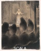 Seurat, Georges (1859-1891) At the 'Concert Europeen', c. 1886-88