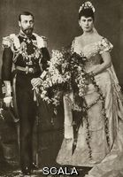******** Duke and Duchess of York's wedding day.  The marriage of the Duke of York and Princess Victoria May of Teck, (later King George V and Queen Mary consort), on 6 July 1893, in the Chapel Royal of St. James's Palace, London, before a distinquished gathering