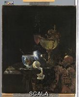 Kalf, Willem (1619-1693) Still Life with a Chinese Bowl, a Nautilus Cup and other Objects, 1662