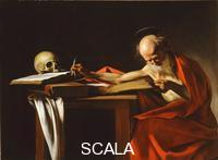 Caravaggio (Merisi, Michelangelo da 1571-1610) Saint Jerome Writing