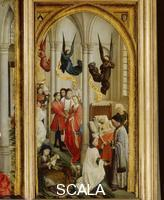 Weyden, Roger van der (c. 1399-1464) Triptych of the Seven Sacraments - detail (Matrimony, Orders, Extreme Unction)