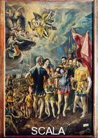El Greco (Theotokopulos, Domenico 1541-1614) Saint Maurice and the Theban Legion