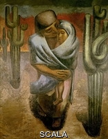 Siqueiros, David Alfaro (1896-1974) Peasant Mother - 1924 - Oil On Canvas - 220X175. Author: Siqueiros, David Alfaro. Location: Museum Of Modern Art, Mexico City. Also Known As: Madre Campesina.