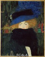 Klimt, Gustav (1862-1918) Lady With Hat and Feather Boa, 1909