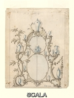 Linnell, John (1792-1882) Design for an overmantel, from 'A Miscellaneous Collection of Original Designs, made, and for the most part executed, during an extensive Practice of many years in the first line of his Profession, by John Linnell, Upholsterer Carver & Cabinet Maker. Selected from his Portfolios at his Decease, by C. H. Tatham Architect. AD 1800'. Great Britain, UK, ca.1755