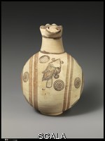 Cypriot art Terracotta jug. Cypriot. Cypro-Archaic I. Bichrome IV Ware. ca. 750-600 B.C.E - Front