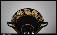 ******** Terracotta kylix (drinking cup). Kylix, eye-cup. Greek, Attic. Archaic. ca. 510 B.C.. TerracottaTerracotta Attributed to the Class of Palmette Eye-cups