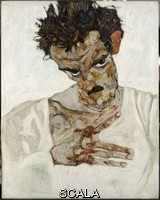 Schiele, Egon (1890-1918) Self-Portrait With Bent Head. Study for 'Hermits', 1912