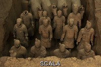 ******** Excavated terracotta statues from Emperor Qin Shi Huang's tomb. Xi'an, Shaanxi Province, China.