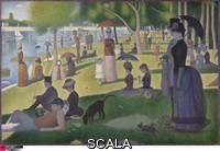 Seurat, Georges (1859-1891) A Sunday on La Grande Jatte. 1884, 1884/86