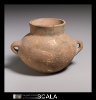 ******** Terracotta collar-necked jar with two handles. Early Helladic II period, ca. 2650-2150 B.C