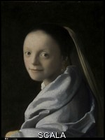 Vermeer, Jan (1632-1675) Study of a Young Woman, probably c. 1665-67 - detail