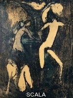 Mueller, Otto (1874-1930) Three nude figures, 1910