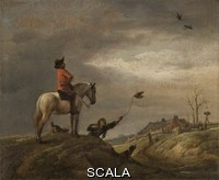 Wouwerman, Philips (1619-1668) The Falconer